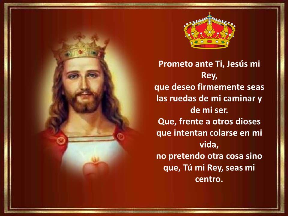 Prometo ante Ti, Jesús mi Rey, que deseo firmemente seas las ruedas de mi caminar y de mi ser.