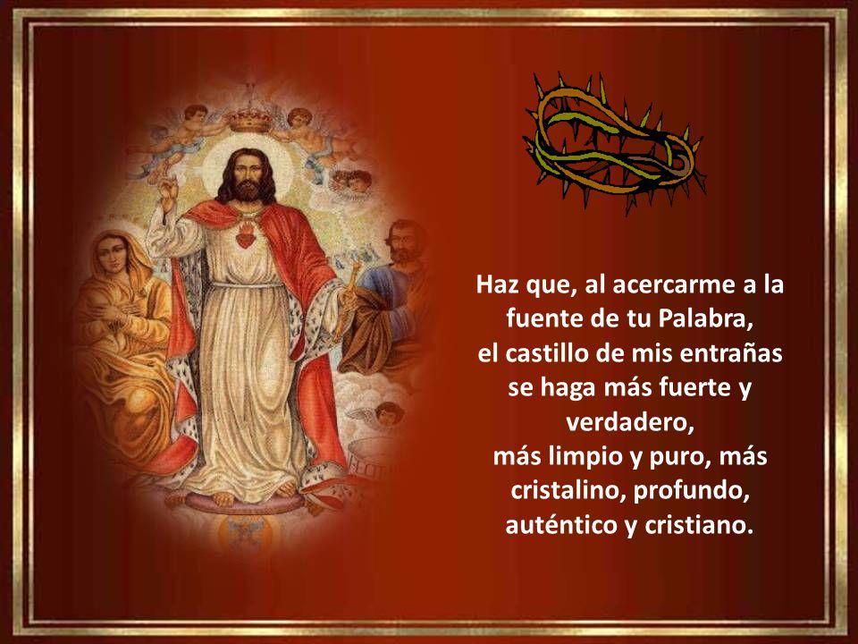 En este Año de la Fe, ¡Oh Señor y mi Rey!, haz que comprenda que tu eres la cabeza de mi existencia que, sin Ti, la caridad se queda a medio camino y,