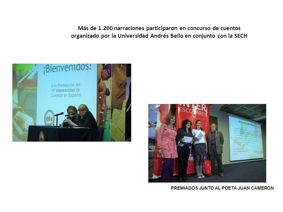 Más de 1.200 narraciones participaron en concurso de cuentos organizado por la Universidad Andrés Bello en conjunto con la SECH PREMIADOS JUNTO AL POE