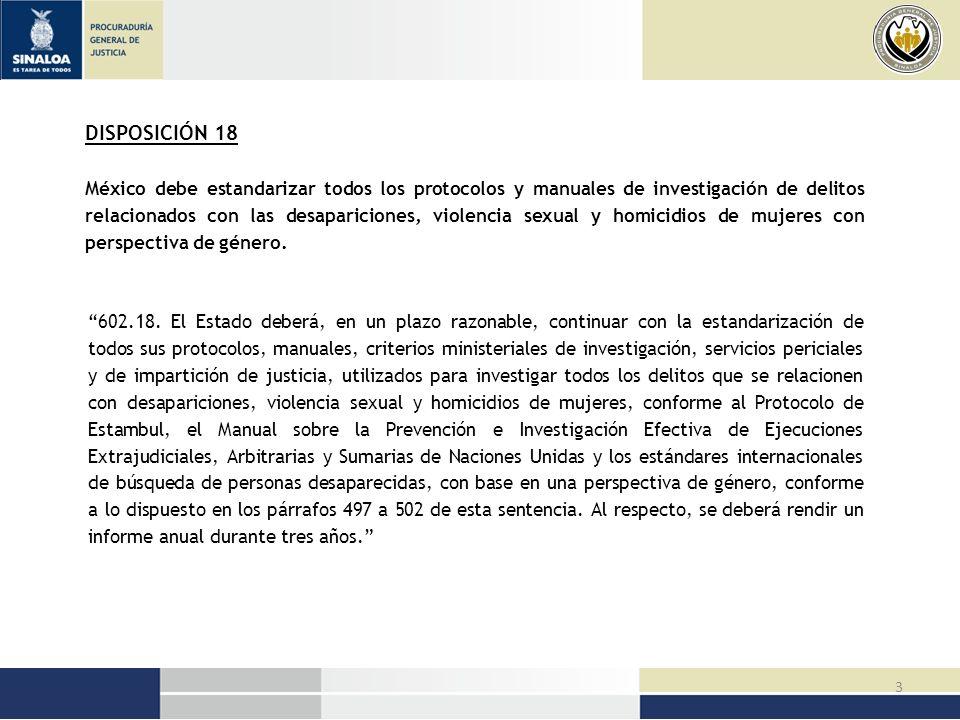 14 TIEMPO (MÁXIMO) LUGAR (PRINCIPAL) ACCIÓN (CENTRAL) PROPUESTAS PARA EL SEGUIMIENTO 10 junio 2010 El estado Página electrónica con información de mujeres y niñas desaparecidas, que tiene el Estado de Sinaloa a través de la Procuraduría General de Justicia.
