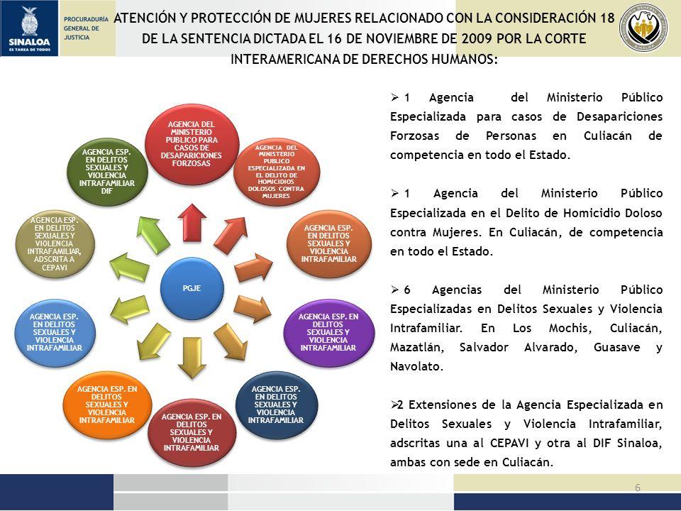 17 La Procuraduría General de Justicia del Estado de Sinaloa, cuenta con una Página Oficial en Internet, http://www.pgjesin.gob.mx/, como se muestra seguidamente:http://www.pgjesin.gob.mx/ PAGINA ELECTRONICA DE CONSULTA SOBRE MUJERES Y NIÑAS PRIVADAS DE LA VIDA Y/O NO RECLAMADAS