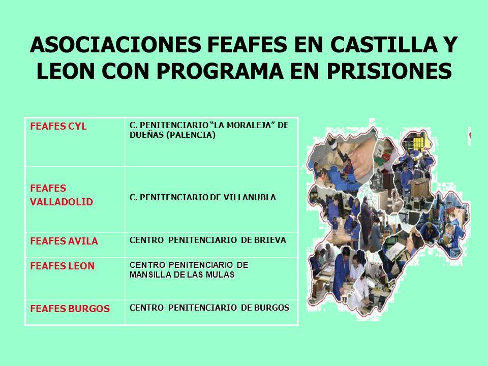 ASOCIACIONES FEAFES EN CASTILLA Y LEON CON PROGRAMA EN PRISIONES FEAFES CYL C. PENITENCIARIO LA MORALEJA DE DUEÑAS (PALENCIA) FEAFES VALLADOLID C. PEN