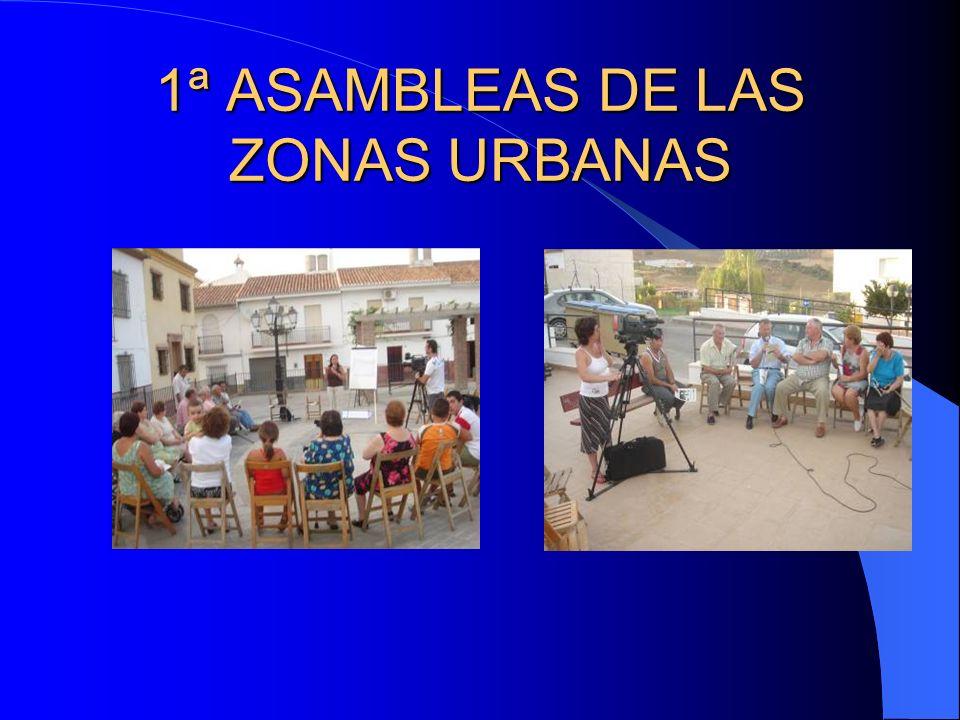 1ª ASAMBLEAS DE LAS ZONAS URBANAS