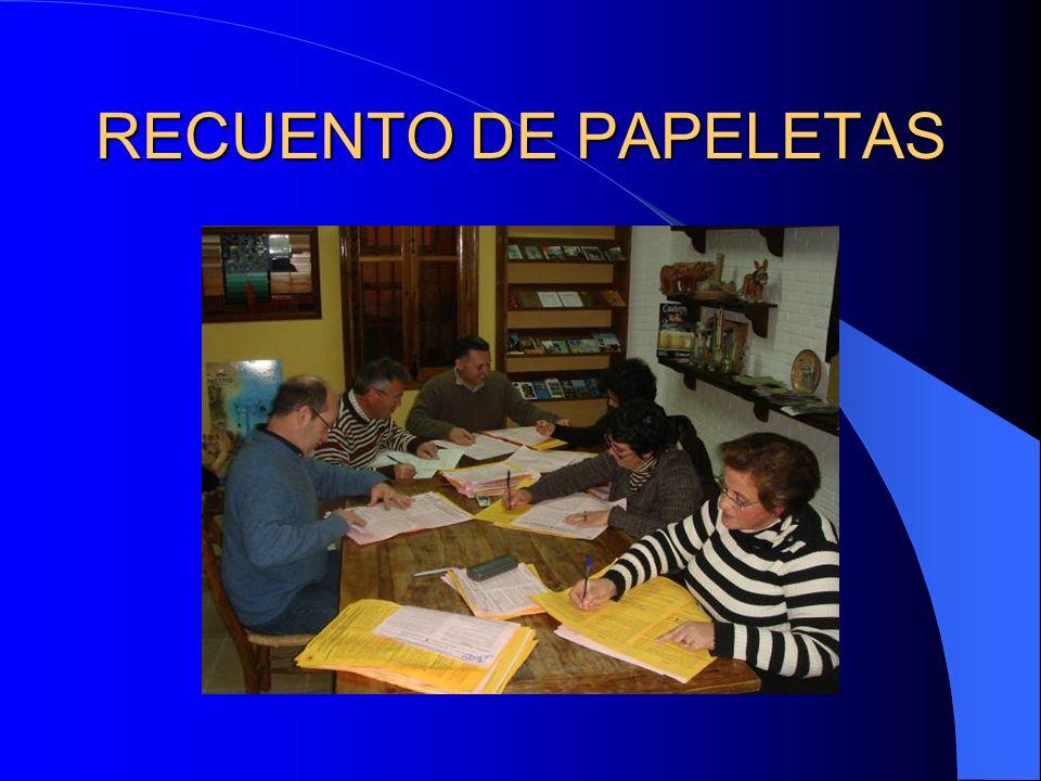 RECUENTO DE PAPELETAS