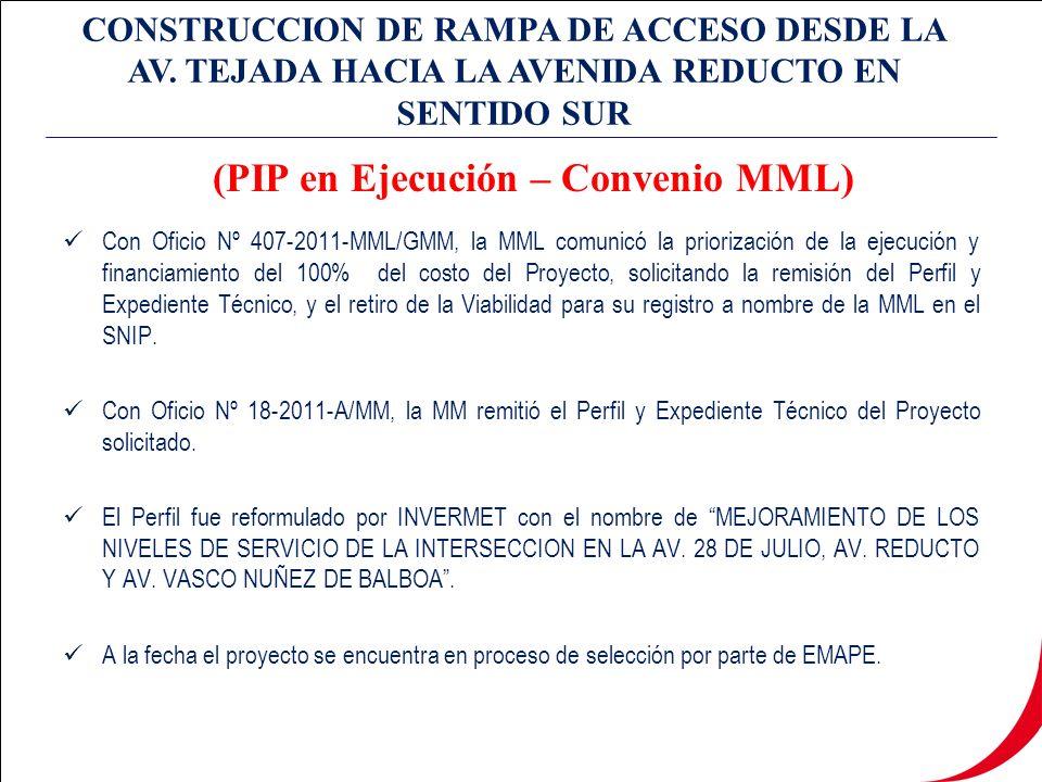 CONSTRUCCION DE RAMPA DE ACCESO DESDE LA AV.
