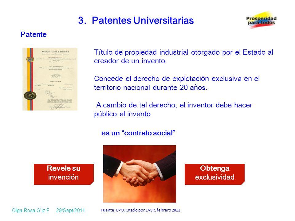 Patente Título de propiedad industrial otorgado por el Estado al creador de un invento.