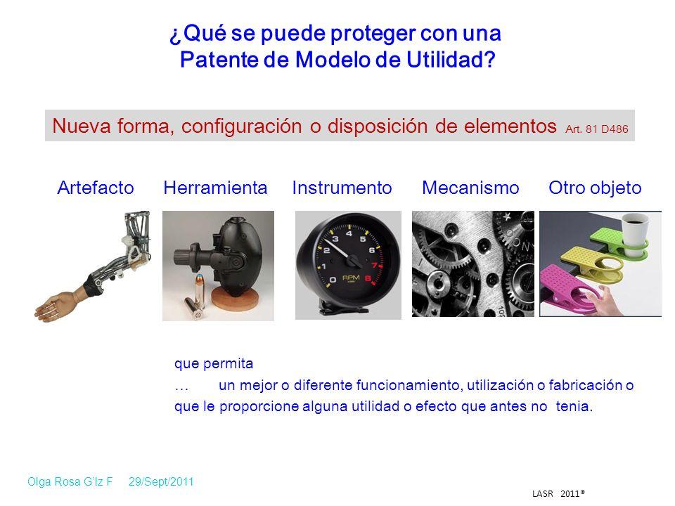 Modelo de Utilidad que permita … un mejor o diferente funcionamiento, utilización o fabricación o que le proporcione alguna utilidad o efecto que antes no tenia.