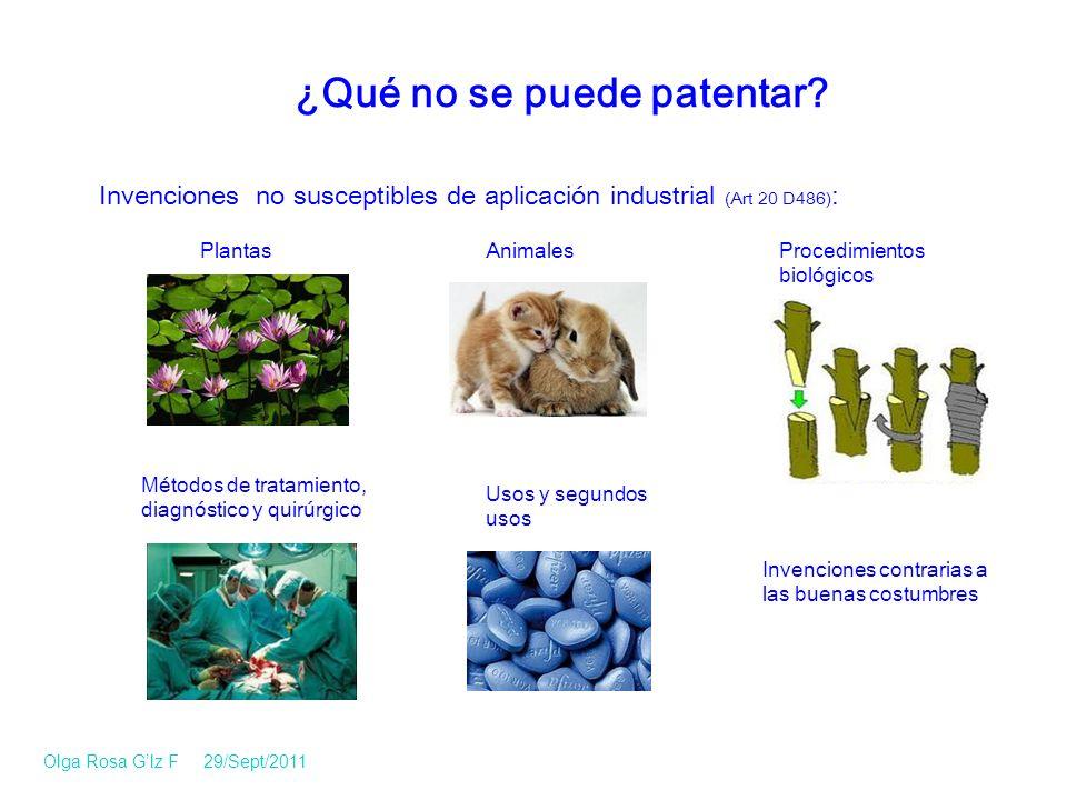 PlantasAnimales Métodos de tratamiento, diagnóstico y quirúrgico Usos y segundos usos Procedimientos biológicos Invenciones contrarias a las buenas costumbres ¿Qué no se puede patentar.