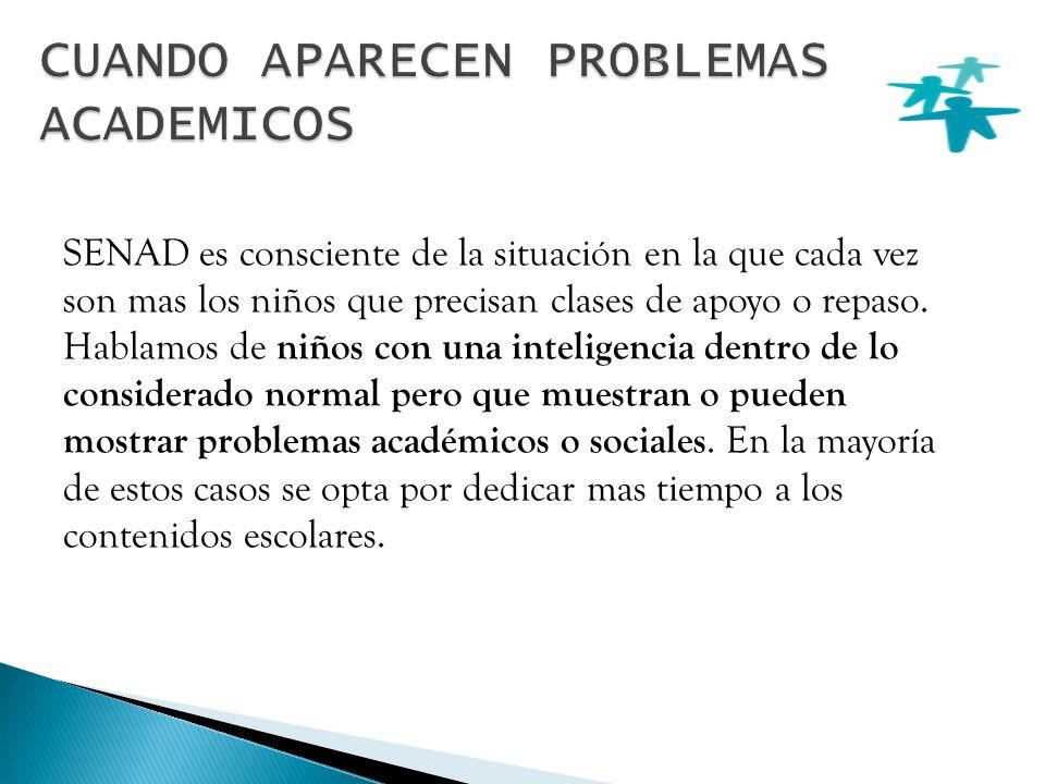 La experiencia de SENAD a lo largo de 10 años trabajando problemas del desarrollo y los últimos avances en neuropsicología nos lleva a la conclusión que existen una serie de procesos cerebrales que son susceptibles de fallar o de no funcionar de manera óptima.