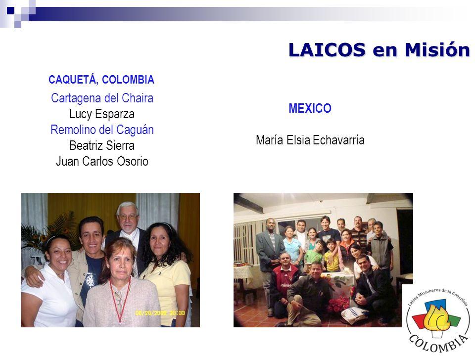 LAICOS en Post Misión Dos laicas que hicieron presencia en la Parroquia de María la Baja, Departamento de Bolívar, Colombia por tres años (2006-2009) Margarita Restrepo Julia Patricia Cadena