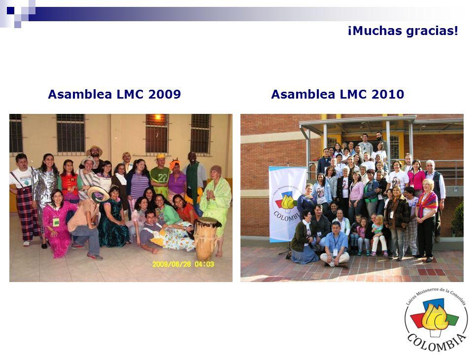 ¡Muchas gracias! Asamblea LMC 2009Asamblea LMC 2010