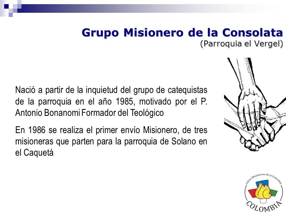 VOLAMI (Voluntariado Laical Misionero) Fue motivado por padres de la Consolata y seminaristas en 1988 a nivel nacional (Medellín, Bogotá y Manizales) VOLAMI estaba inspirado en los principios y carisma y espiritualidad del Beato José Allamano.