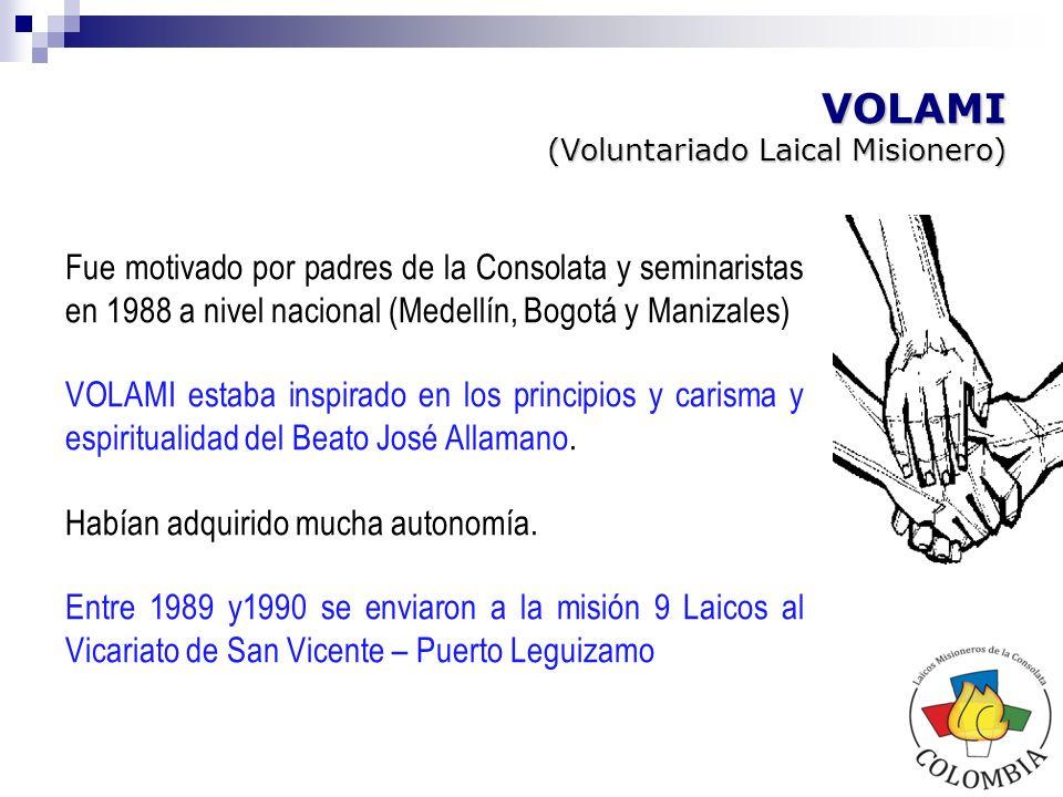 Inició en febrero de 1993 por decisión del Consejo Provincial de entonces, motivado por dos fuerzas: - El documento de la Dirección General sobre el Laicado Misionero IMC.