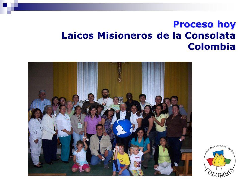 Proceso hoy Colombia Laicos Misioneros de la Consolata Colombia Nos constituimos desde el 2004, por animación del IMC, como respuesta a la invitación desde la Dirección General del instituto.