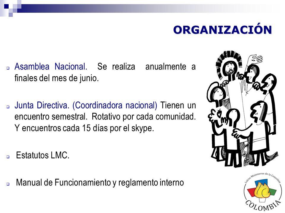El objetivo de esta estructura organizacional es la conformación de unas pautas comunes a todas las localidades, que nos ayudan a orientar el proceso de los LMC con identidad y autonomía propia.