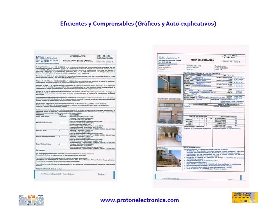 Eficientes y Comprensibles (Gráficos y Auto explicativos) www.protonelectronica.com