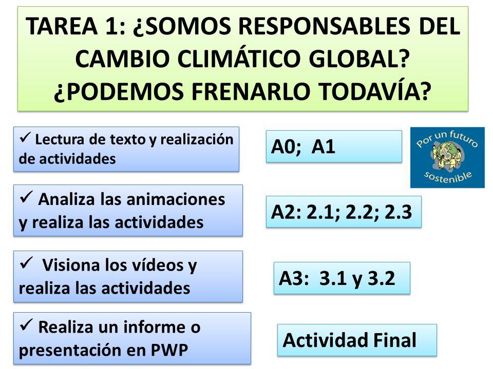 LECTURA DEL TEXTO y Realizar las actividades propuestas El nuevo informe del clima establece que el hombre es el culpable del calentamiento Aumenta el pesimismo de los expertos mundiales sobre el aumento de temperaturas MÓNICA SALOMONE, Madrid.