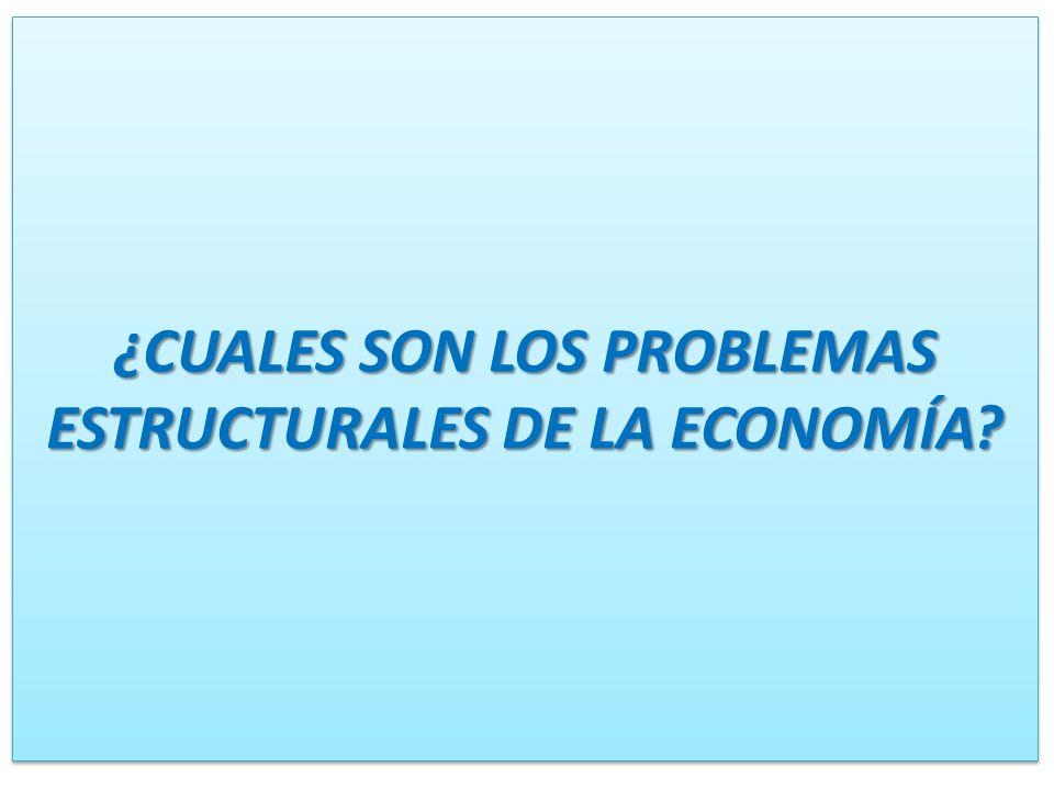 ¿CUALES SON LOS PROBLEMAS ESTRUCTURALES DE LA ECONOMÍA?