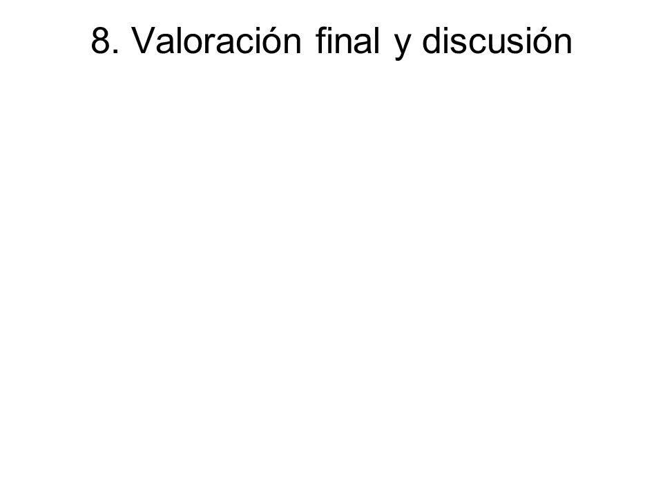 8. Valoración final y discusión