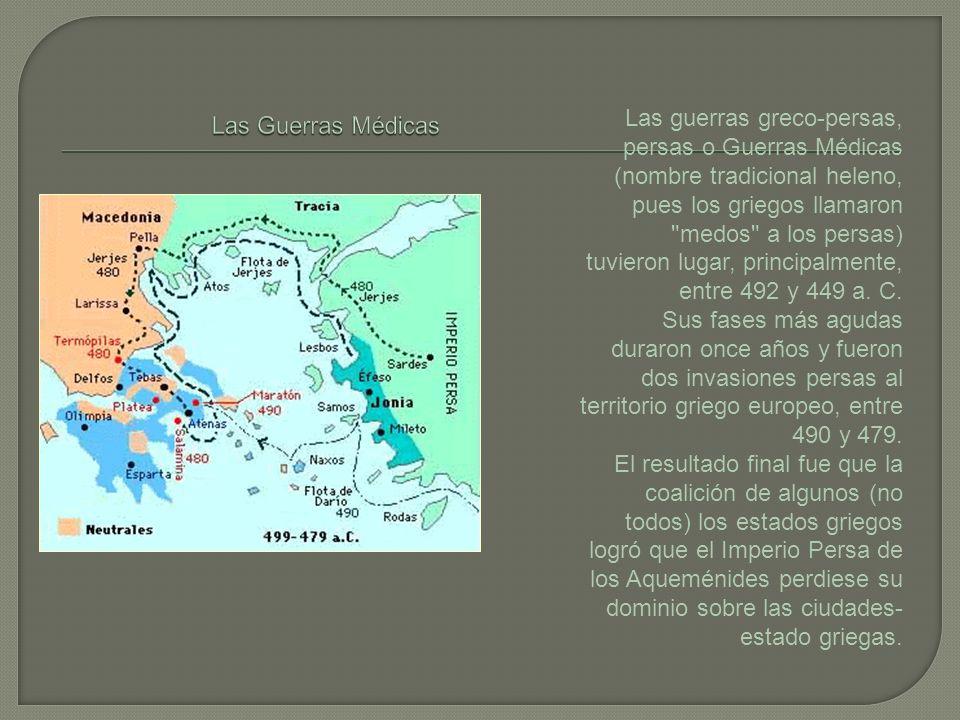 Las guerras greco-persas, persas o Guerras Médicas (nombre tradicional heleno, pues los griegos llamaron