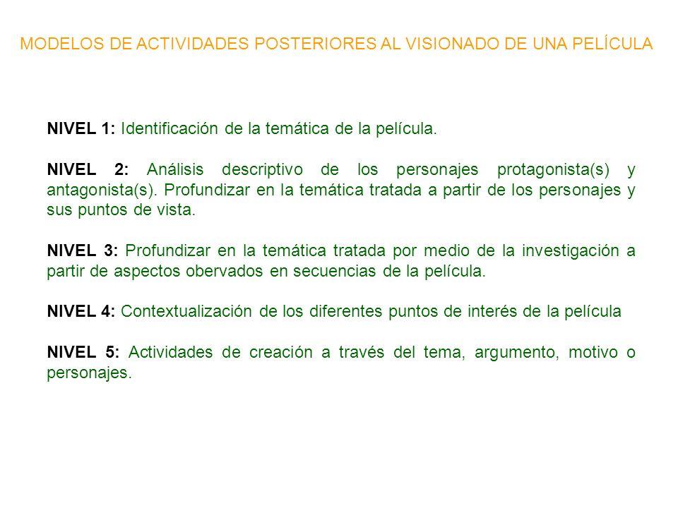 LITERATURA Y CINE: OTRAS PROPUESTAS DE APLICACIÓN