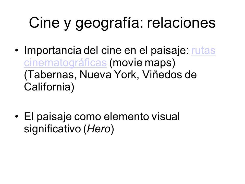 Geografía en el cine. Pespectivas Rodaje en espacios Testimonio de la actividad humana