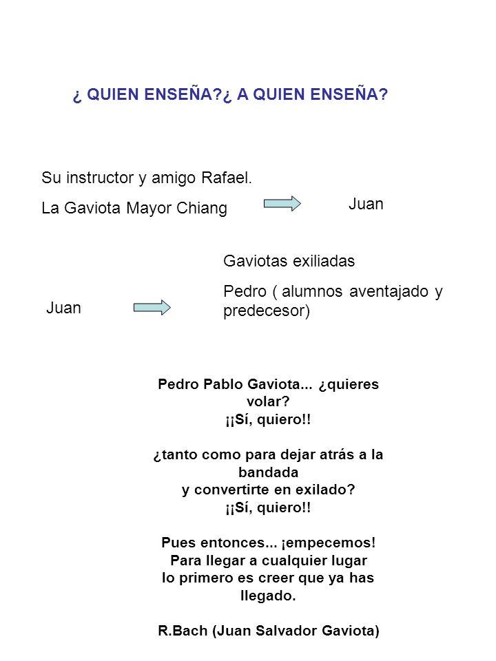 ¿ QUIEN ENSEÑA?¿ A QUIEN ENSEÑA.Su instructor y amigo Rafael.