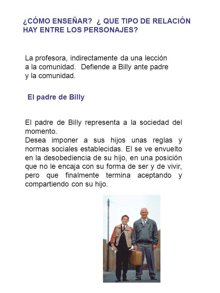El padre de Billy representa a la sociedad del momento.