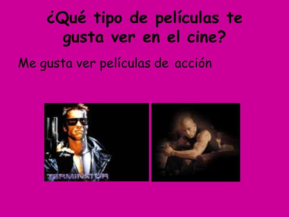 Escribe un ejemplo para cada tipo de película 1.Una película de terror: _Tiburón (Jaws)________________ 2.Una película de acción: ____________________________ 3.Una película de animación: ____________________________ 4.Una película de aventuras: ____________________________ 5.Una película de ciencia ficción: ____________________________ 6.Una película de suspense:____________________________ 7.Una película infantil: ____________________________ 8.Una película policíaca: ____________________________ 9.Una película romántica: ____________________________ 10.Un drama: ____________________________ 11.Un musical: ____________________________ 12.Un documental: ____________________________ 13.Una comedia: ____________________________
