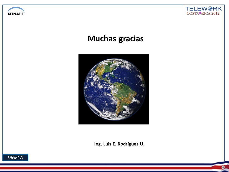 DIGECA ( Ing. Luis E. Rodríguez U. ( Muchas gracias