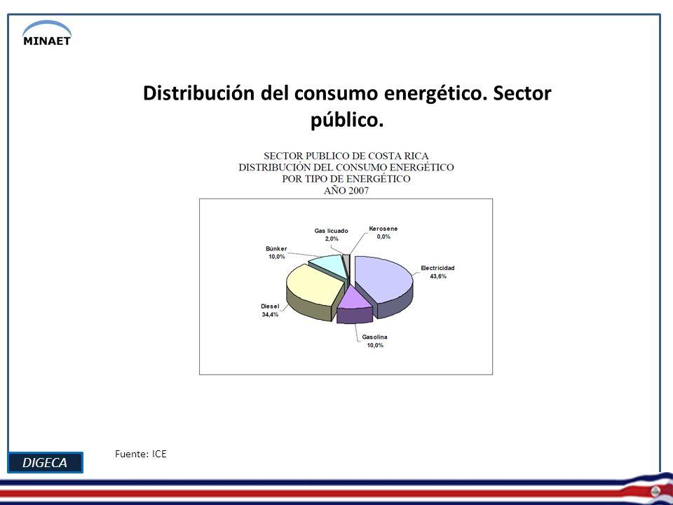 DIGECA Consumo de energía eléctrica en viviendas Fuente: ICE