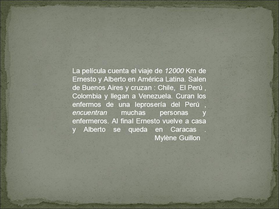La película cuenta el viaje de 12000 Km de Ernesto y Alberto en América Latina. Salen de Buenos Aires y cruzan : Chile, El Perú, Colombia y llegan a V