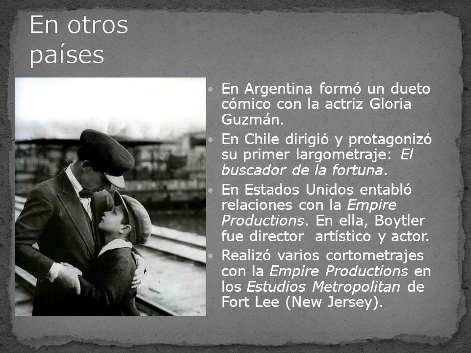 En Argentina formó un dueto cómico con la actriz Gloria Guzmán. En Chile dirigió y protagonizó su primer largometraje: El buscador de la fortuna. En E