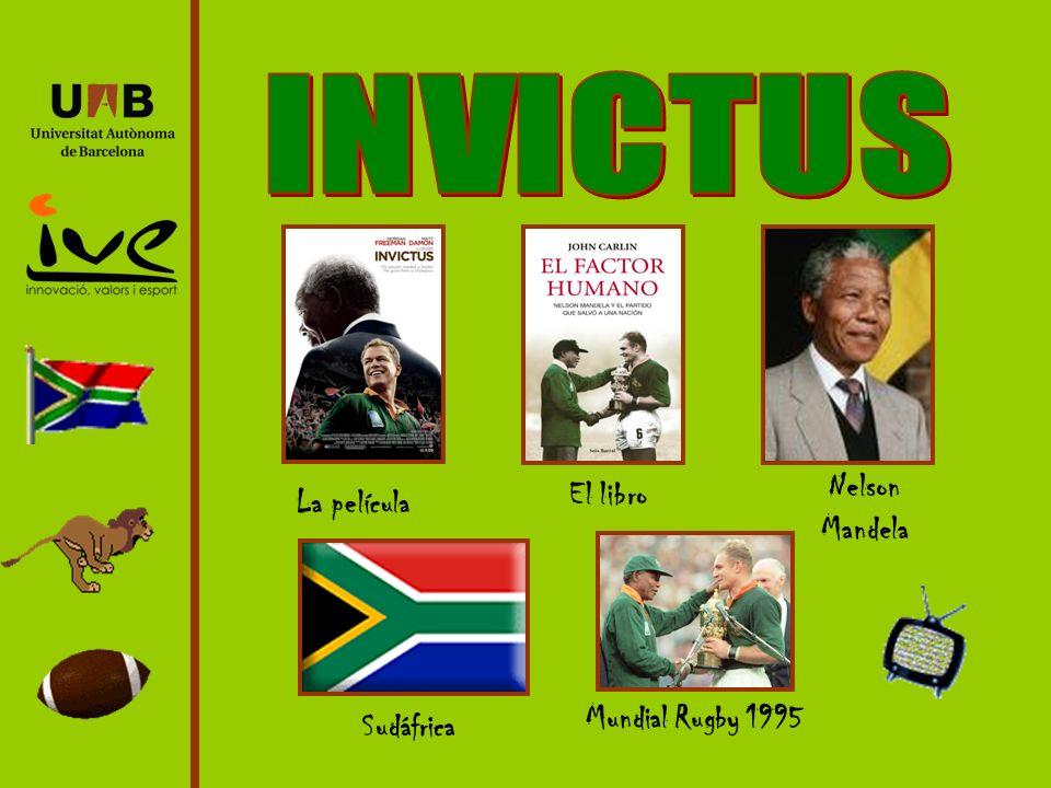 La película El libro Nelson Mandela Sudáfrica Mundial Rugby 1995