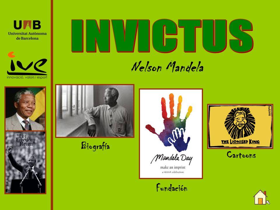 Nelson Mandela Biografía Cartoons Fundación