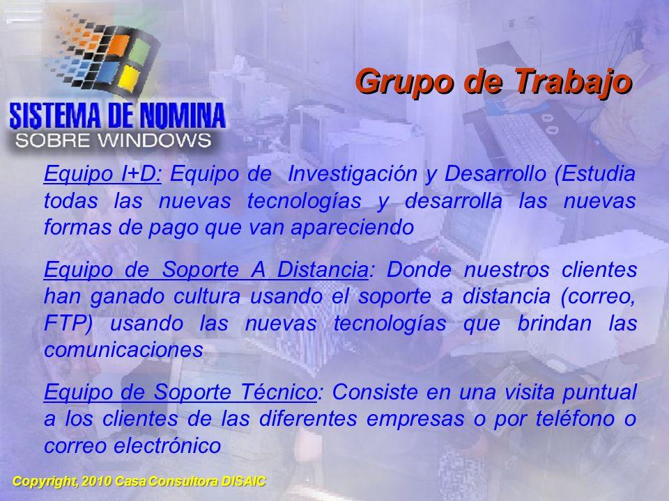 Copyright, 2010 Casa Consultora DISAIC Proyecciones Futuras Continuar todas las constantes modernizaciones del Sistema según lo requiera los cambios de la Economía Cubana..