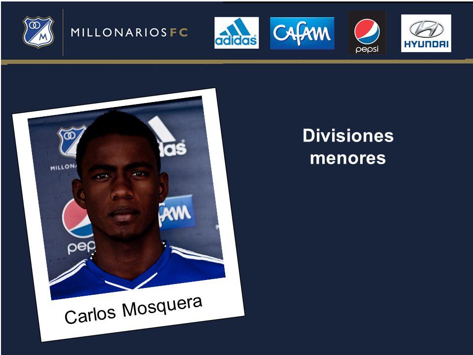 Carlos Mosquera Divisiones menores