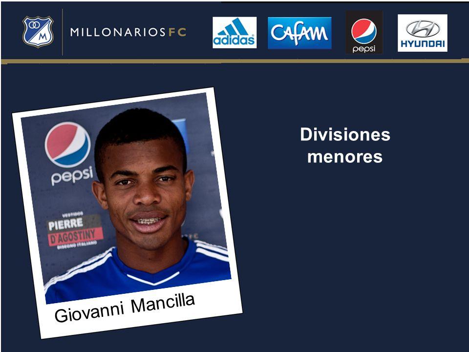 Giovanni Mancilla Divisiones menores