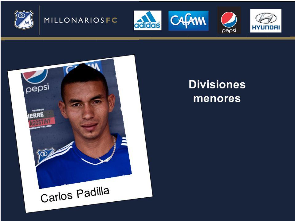 Carlos Padilla Divisiones menores