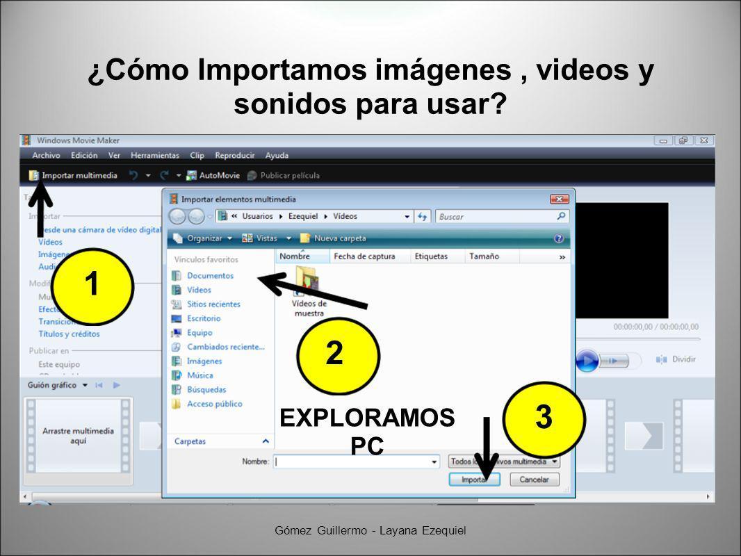 ¿Cómo Importamos imágenes, videos y sonidos para usar.