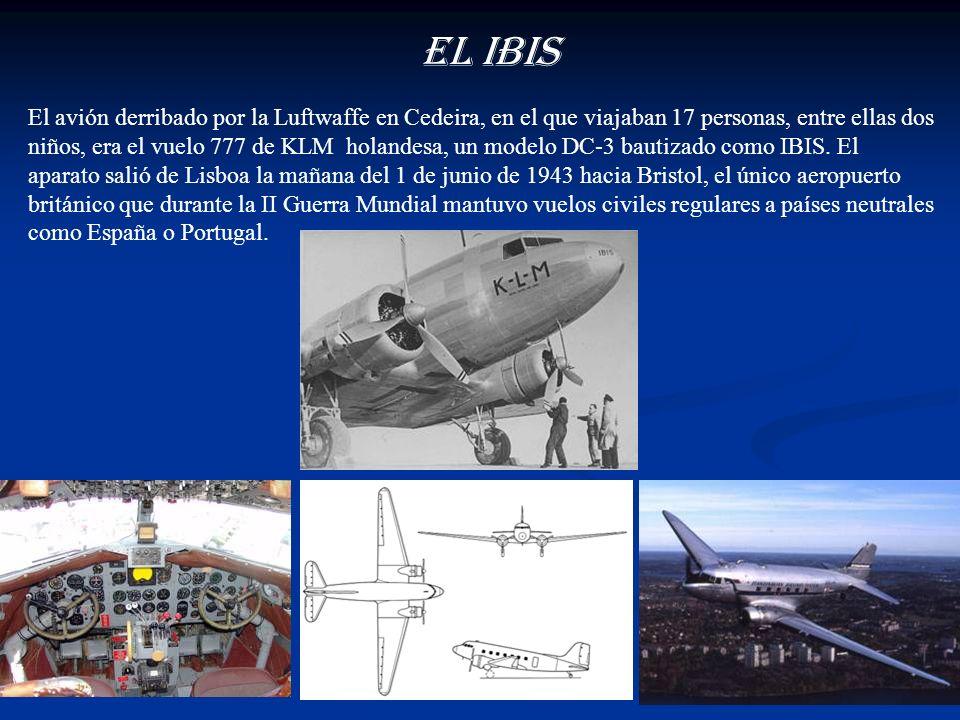 Una patrulla de 8 Junkers de la Luftwaffe derribo a un avión civil con 17 personas a bordo, que cubría la respetada ruta Lisboa-Bristol, a su paso por