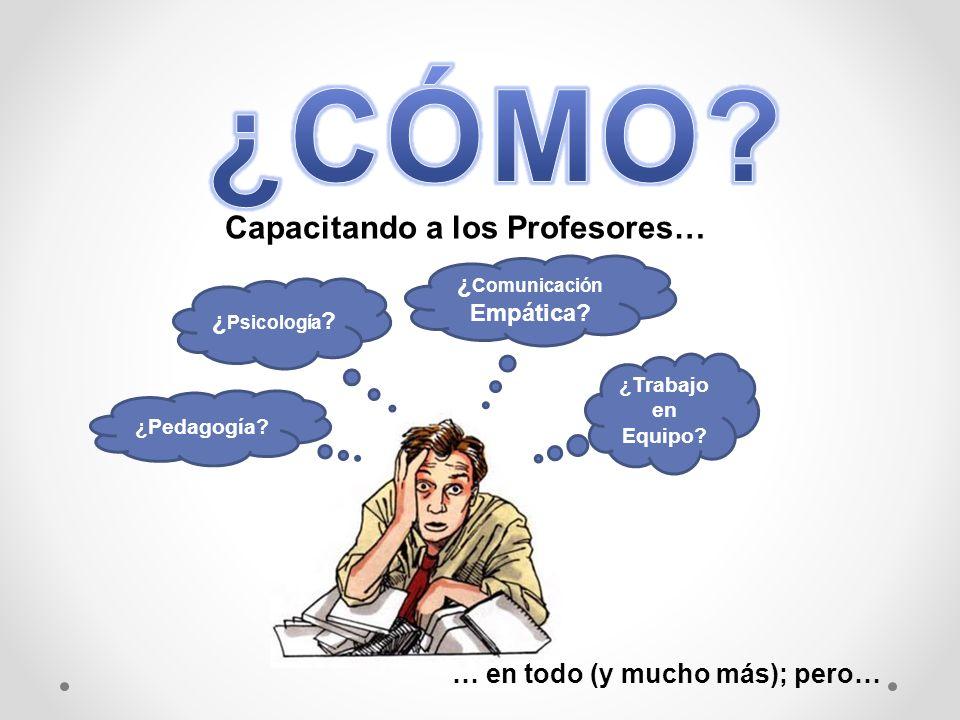 Capacitando a los Profesores… ¿ Psicología .¿ Comunicación Empática.