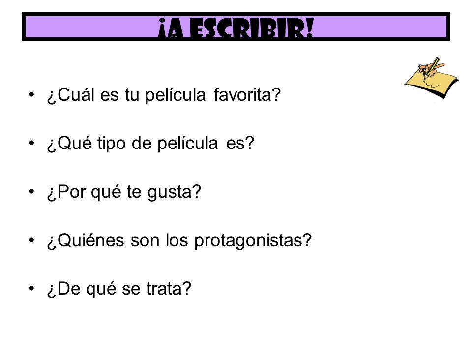Hoy hemos ……… Dicho qué tipo de películas nos gusta Descrito una película en español