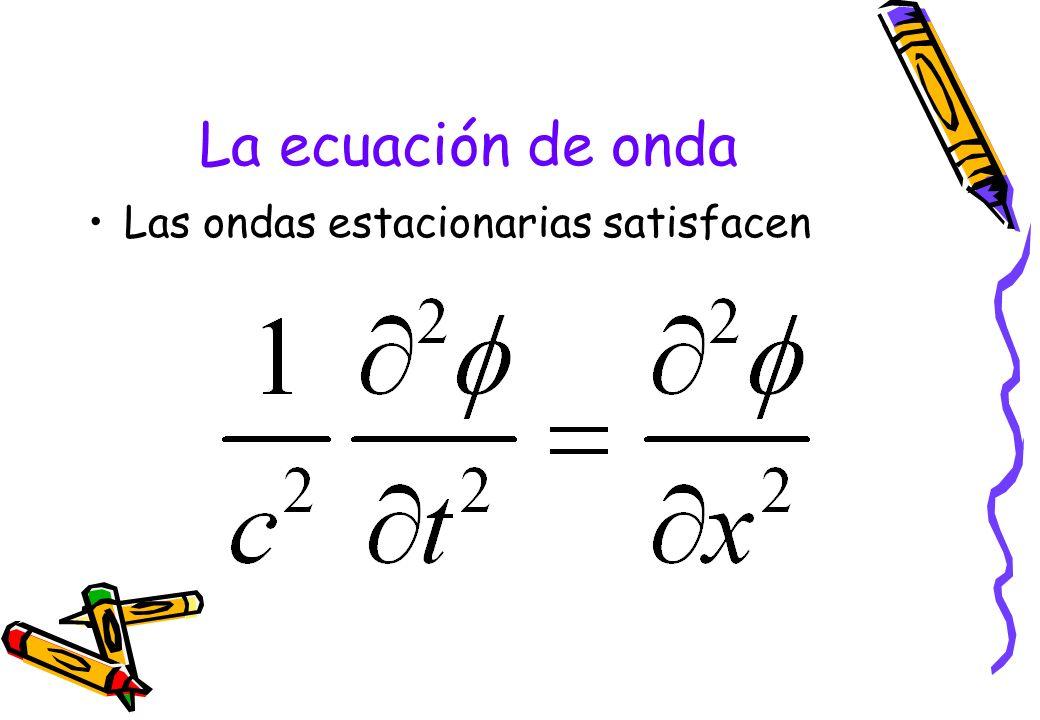 La ecuación de onda Las ondas estacionarias satisfacen