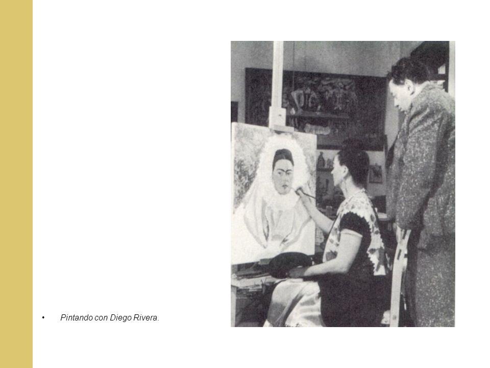 Pintando con Diego Rivera.