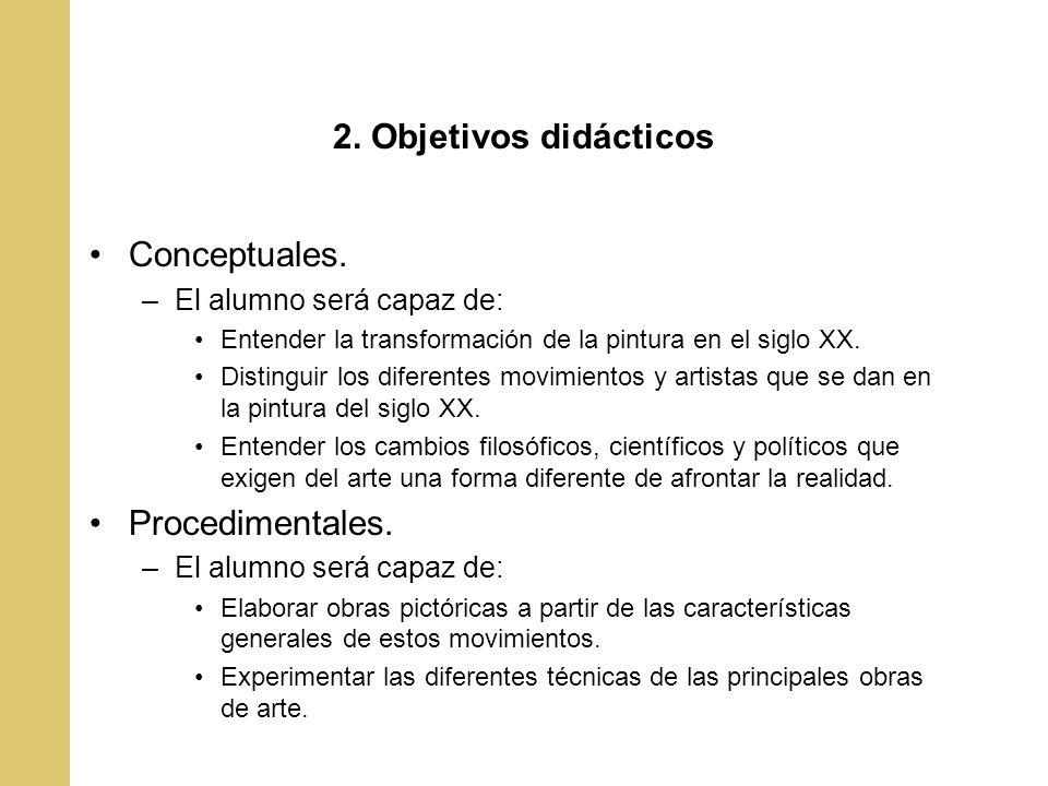 2.Objetivos didácticos Actitudinales.