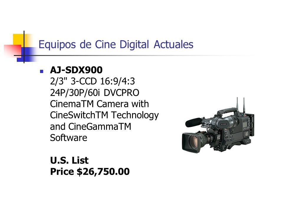 Equipos de Cine Digital Actuales AJ-SDX900 2/3
