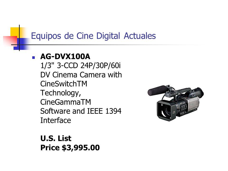 Equipos de Cine Digital Actuales AG-DVX100A 1/3