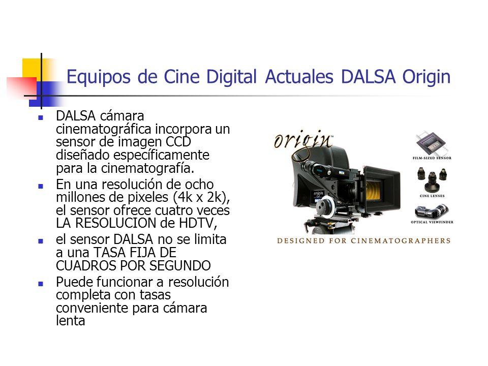 Equipos de Cine Digital Actuales DALSA Origin DALSA cámara cinematográfica incorpora un sensor de imagen CCD diseñado específicamente para la cinemato