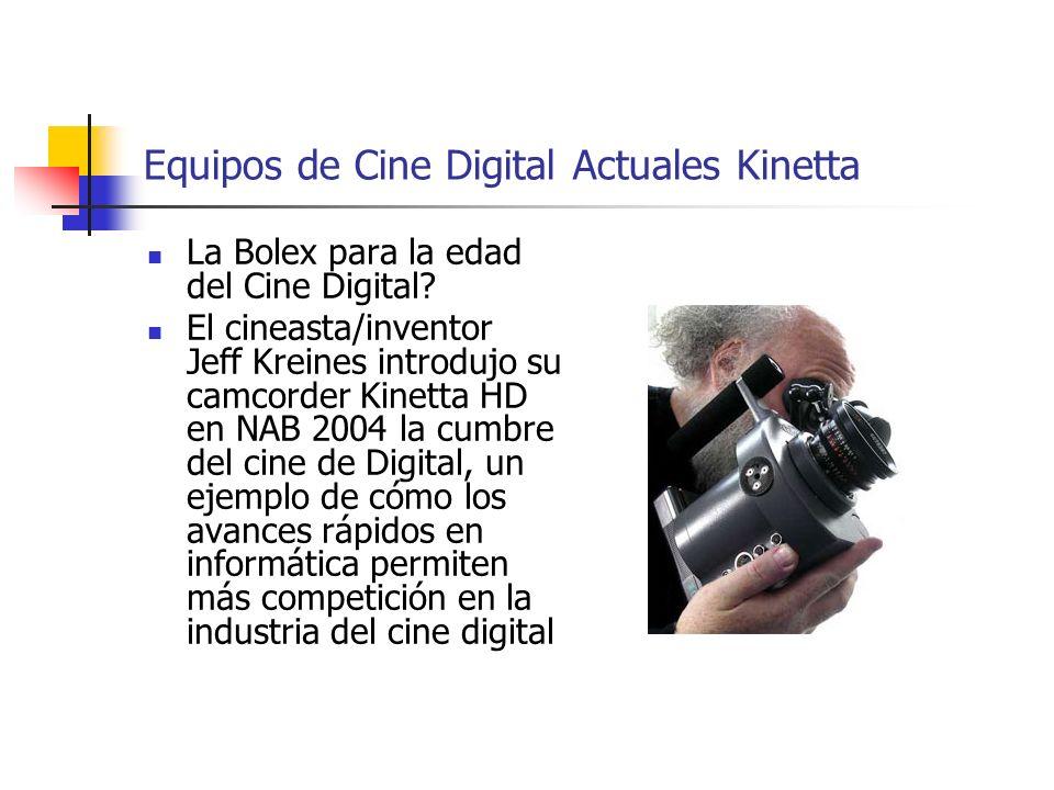 Equipos de Cine Digital Actuales Kinetta La Bolex para la edad del Cine Digital? El cineasta/inventor Jeff Kreines introdujo su camcorder Kinetta HD e